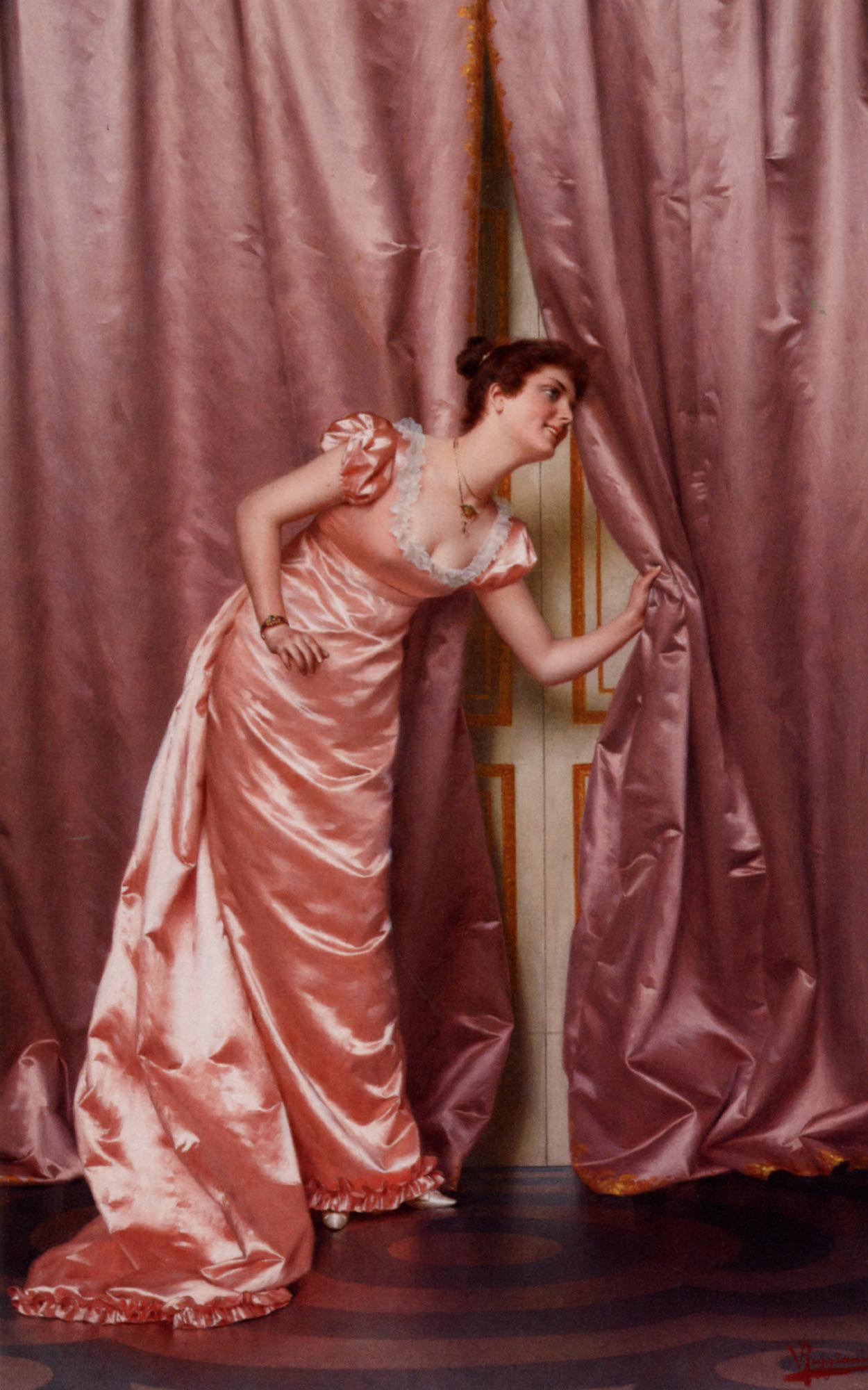 Eavesdropping  :: Vittorio Reggianini - Romantic scenes in art and painting ôîòî