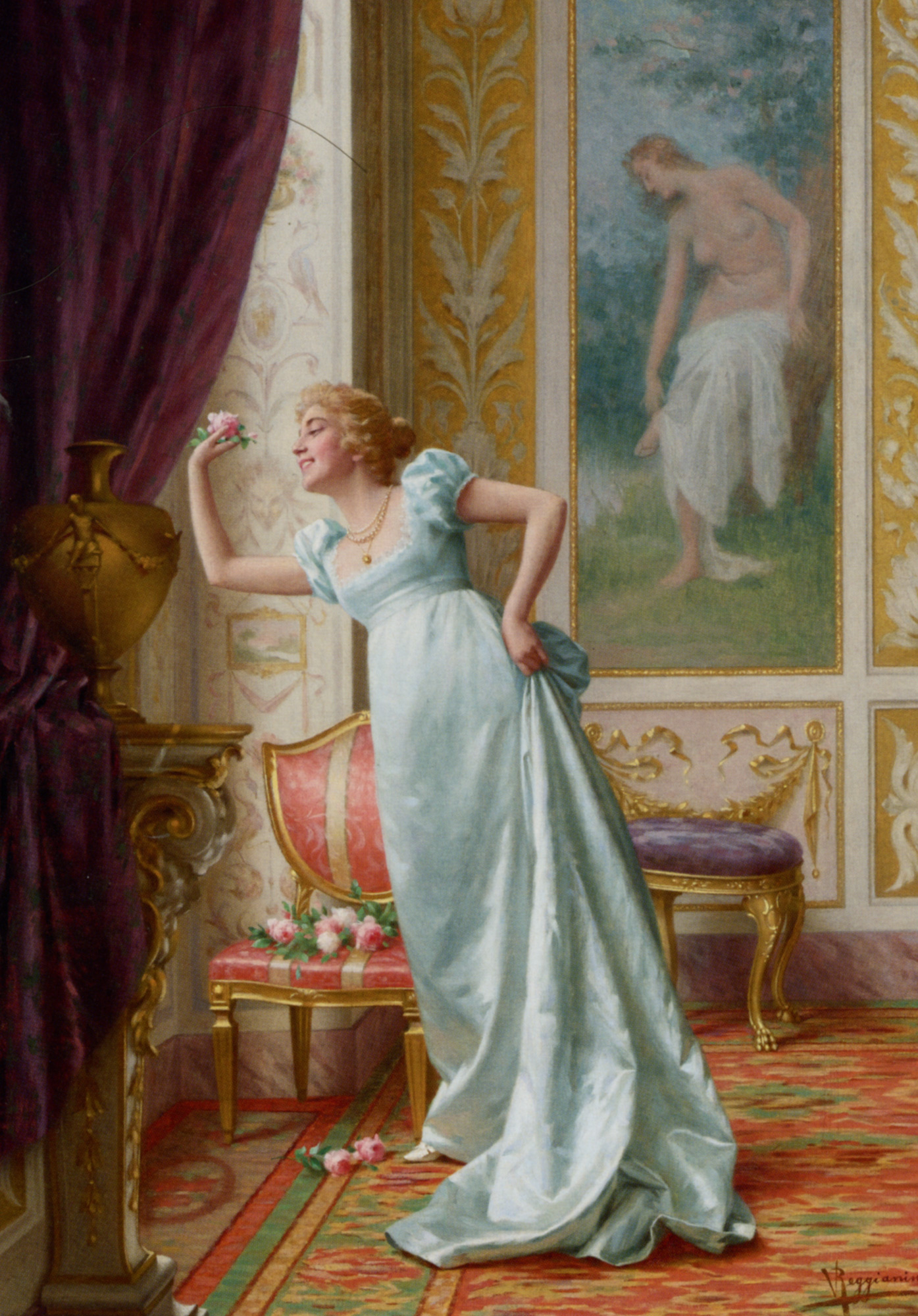 The Attraction :: Vittorio Reggianini - Romantic scenes in art and painting ôîòî