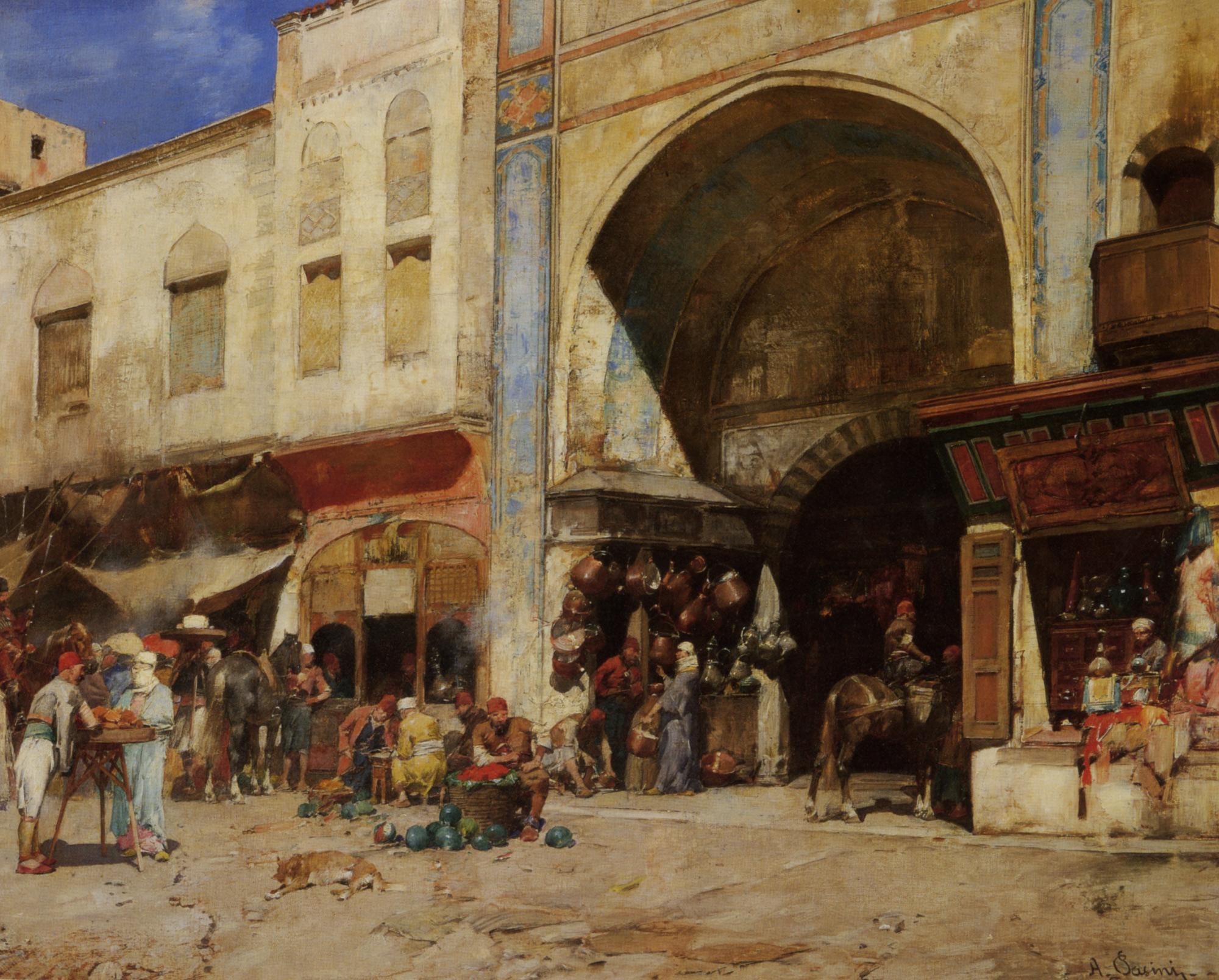 An Eastern Market  :: Alberto Pasini - Oriental architecture ôîòî