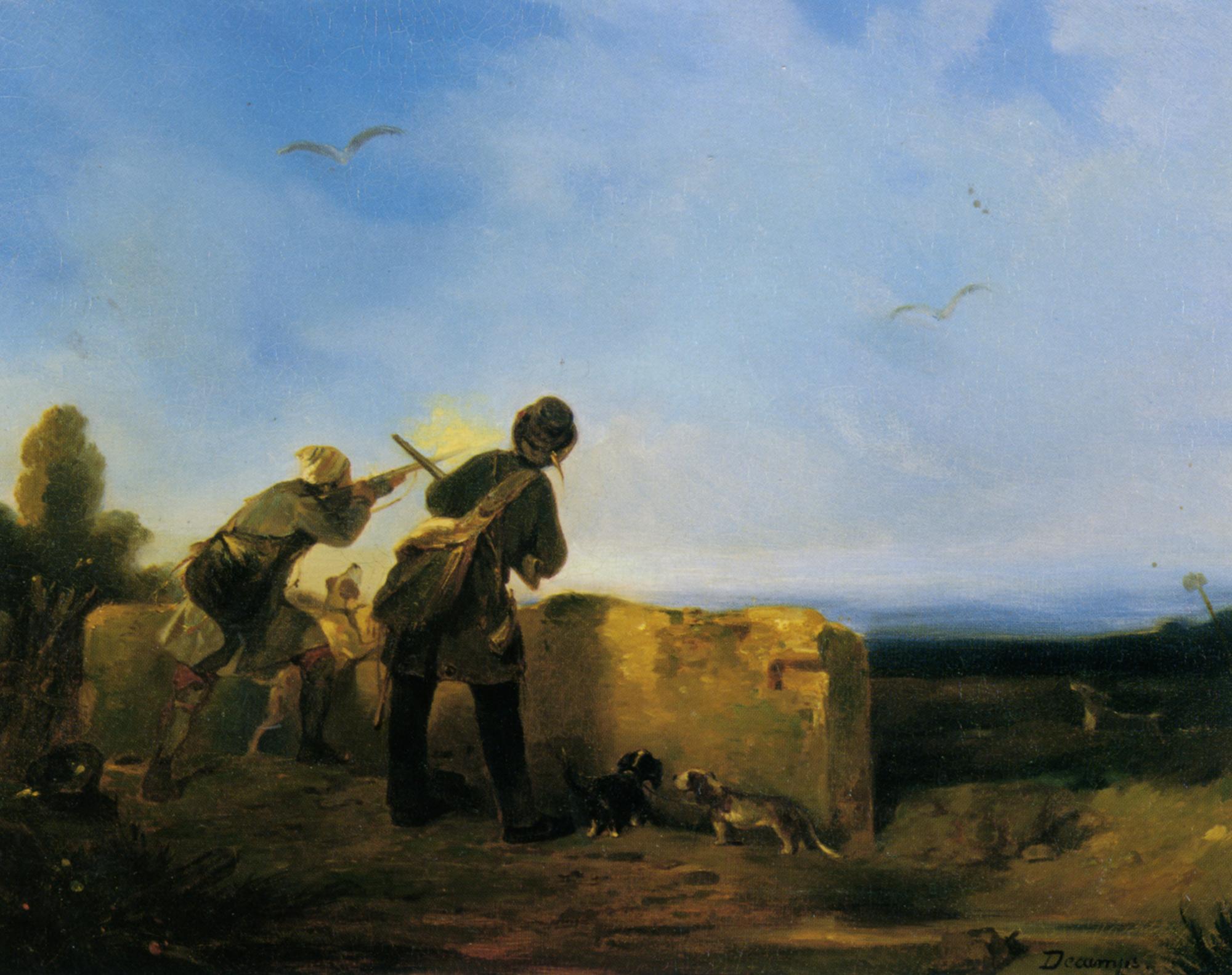 Snipe Shooting :: Alexandre-Gabriel Decamps - Hunting scenes ôîòî