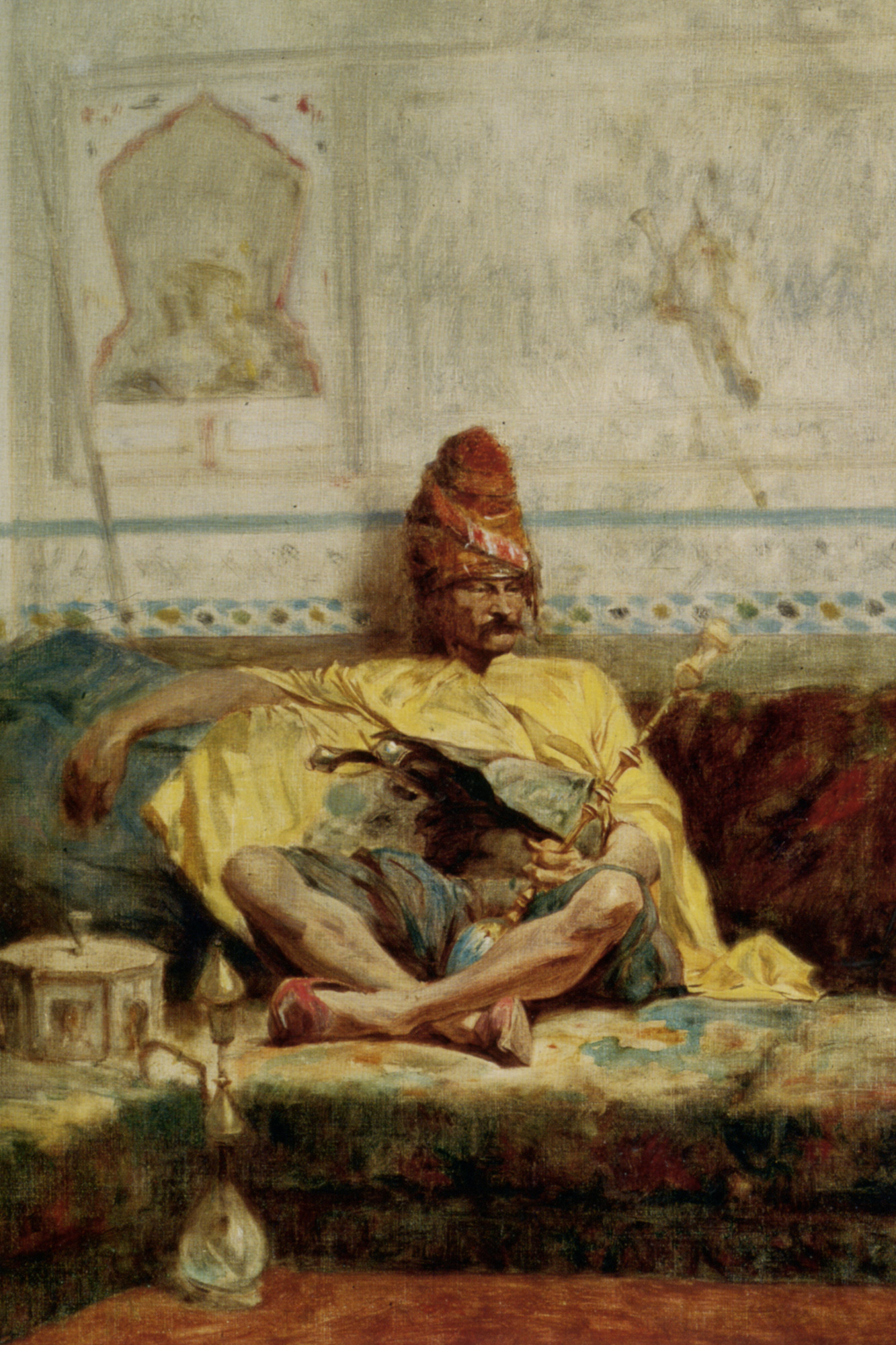 Seated Bashi Bazouk :: Charles Bargue  - scenes of Oriental life (Orientalism) in art and painting ôîòî