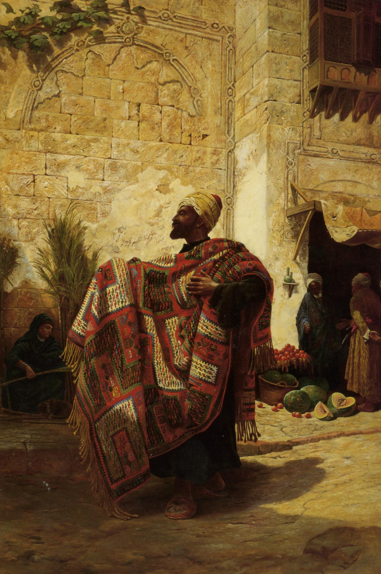 The Carpet Seller :: Charles Robertson  - Street and market genre scenes ôîòî