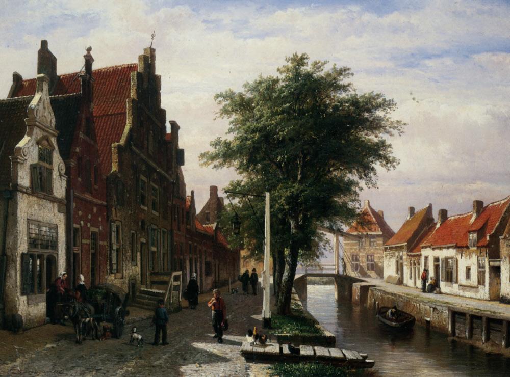 Along the Canal :: Cornelis Springer - Streets ôîòî
