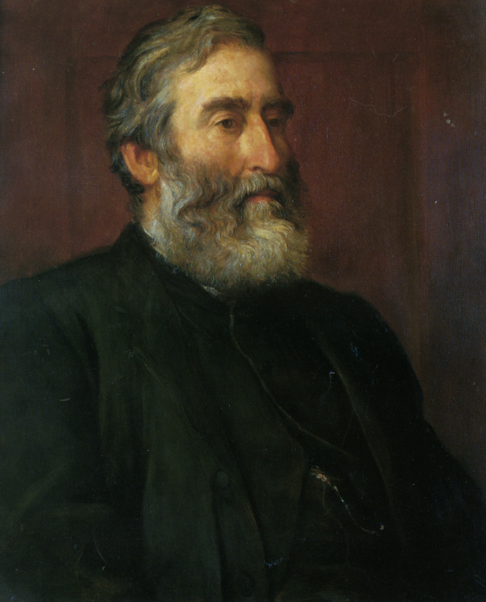 Portrait of the reverend Harry Jones :: George Frederick Watts - men's portraits 19th century (first half) ôîòî