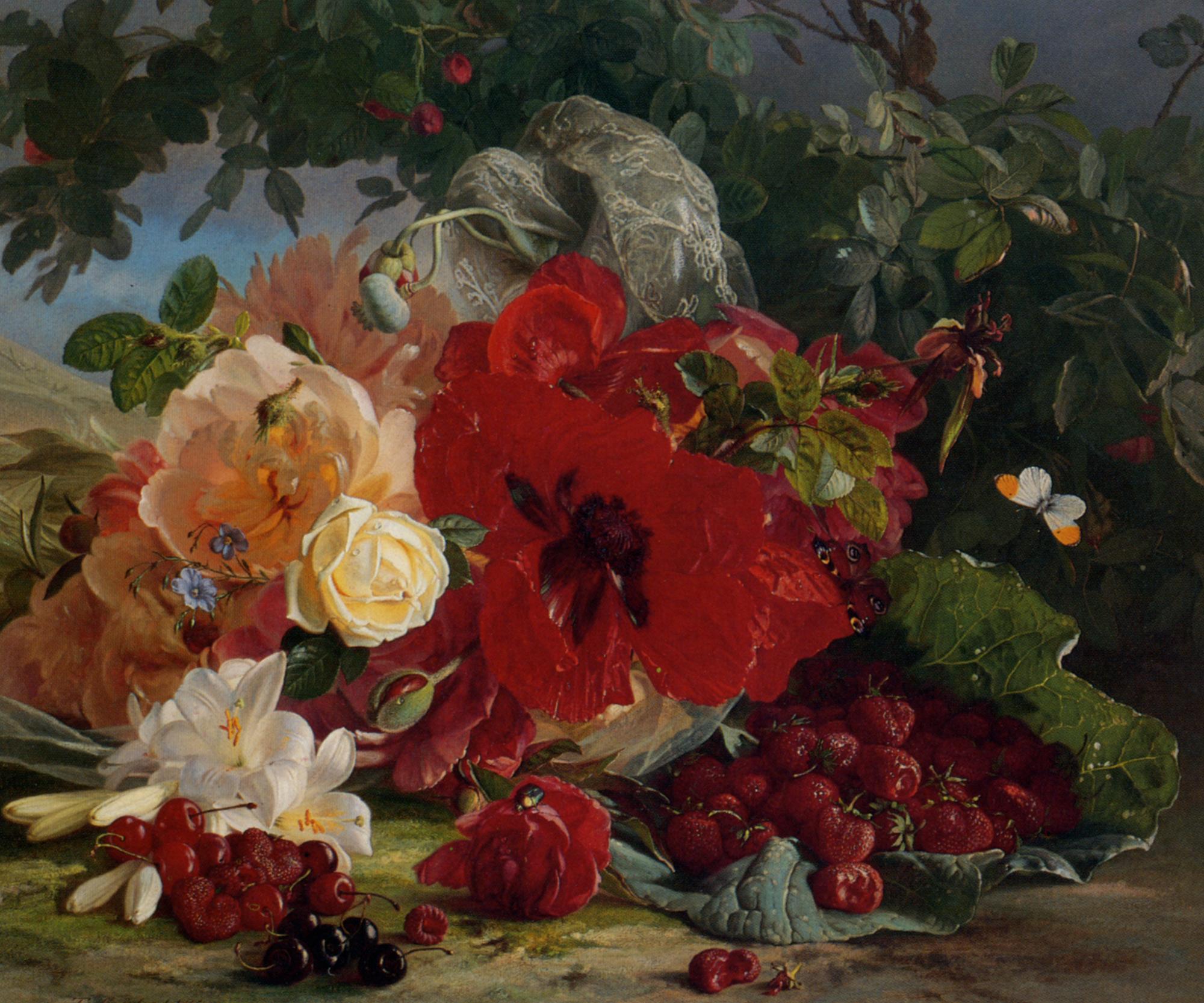 Arrangement of Roses :: Theude Gronland - flowers in painting ôîòî