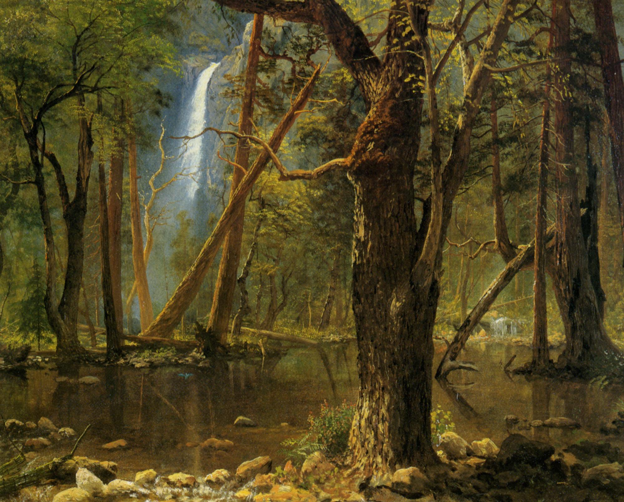 View in Yosemite Valley :: Albert Bierstadt - Forest landscapes ôîòî