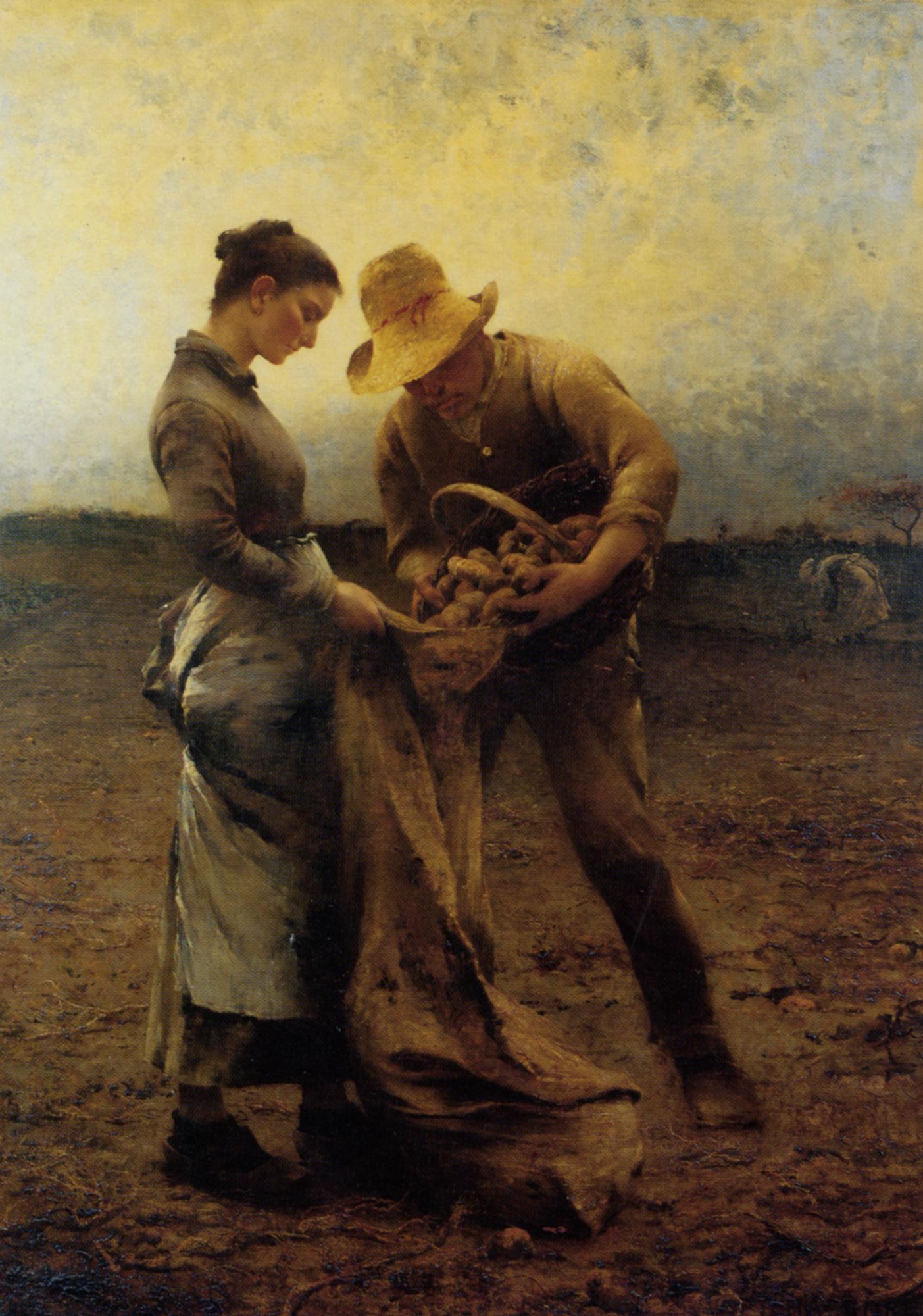Potato Gatherers :: August Wilhelm Nikolaus Hagborg - Village life ôîòî
