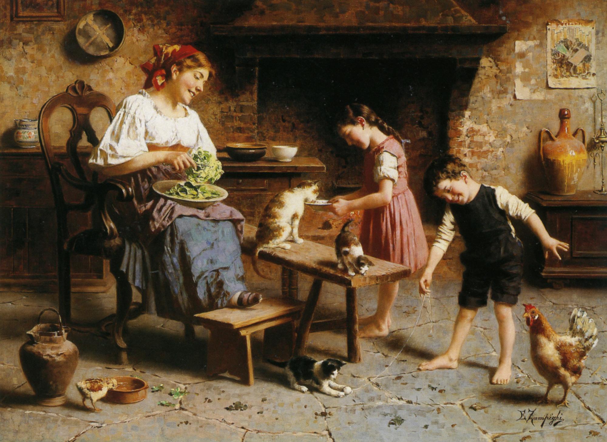 Feeding Time :: Eugenio Zampighi  - Village life ôîòî