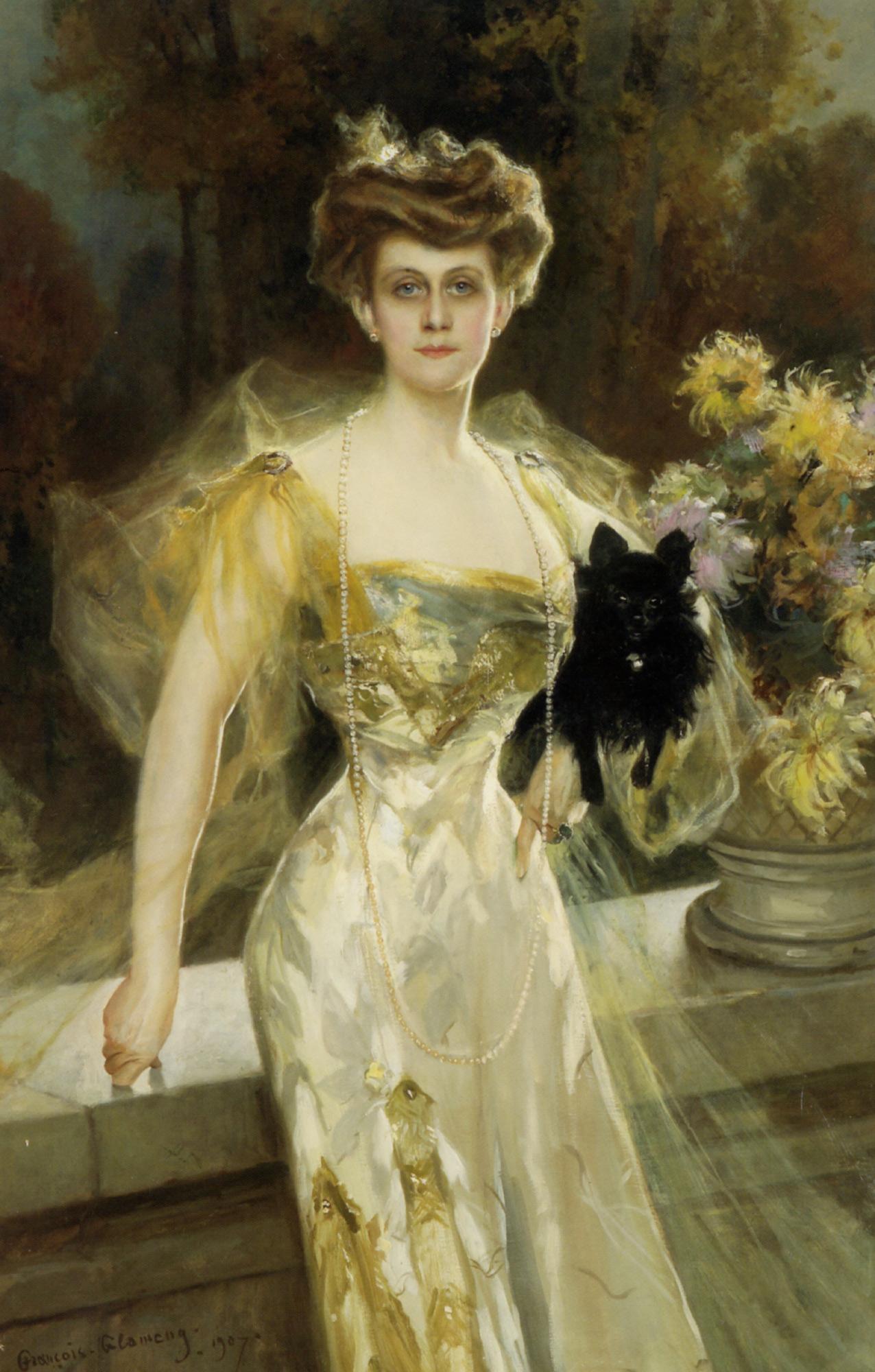 Portrait of Mrs Meunier :: Francois Flameng - 8 female portraits hall ôîòî