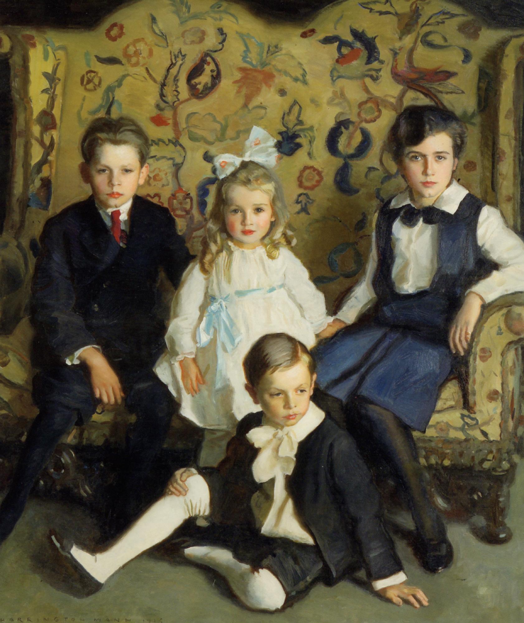 A Family Portrait of Four Children :: Harrington Mann - Children's portrait in art and painting ôîòî