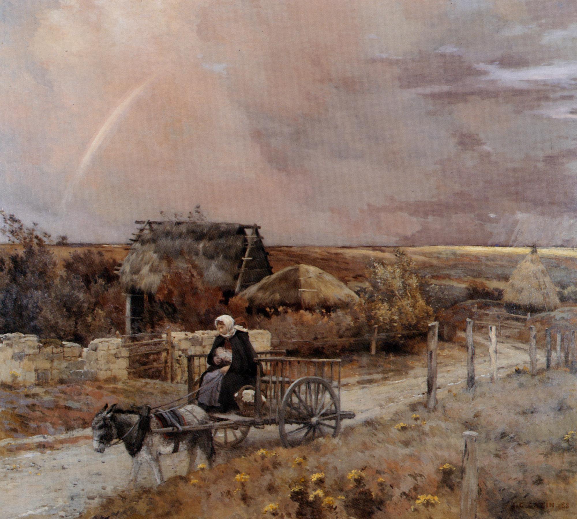 Rainbow :: Jean-Charles Cazin - Village life ôîòî