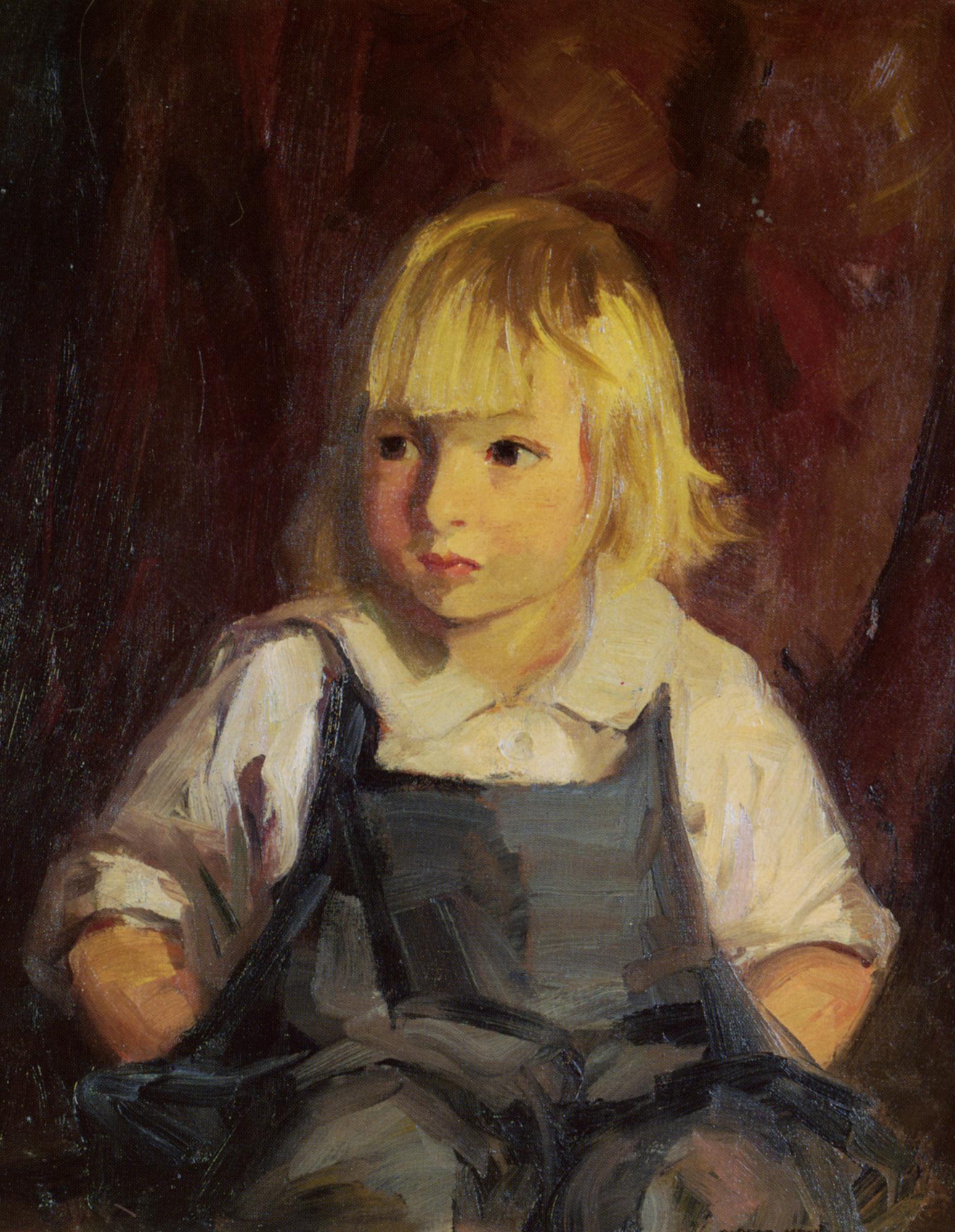 Boy In Blue Overalls :: Robert Henri  - Portraits of young boys ôîòî