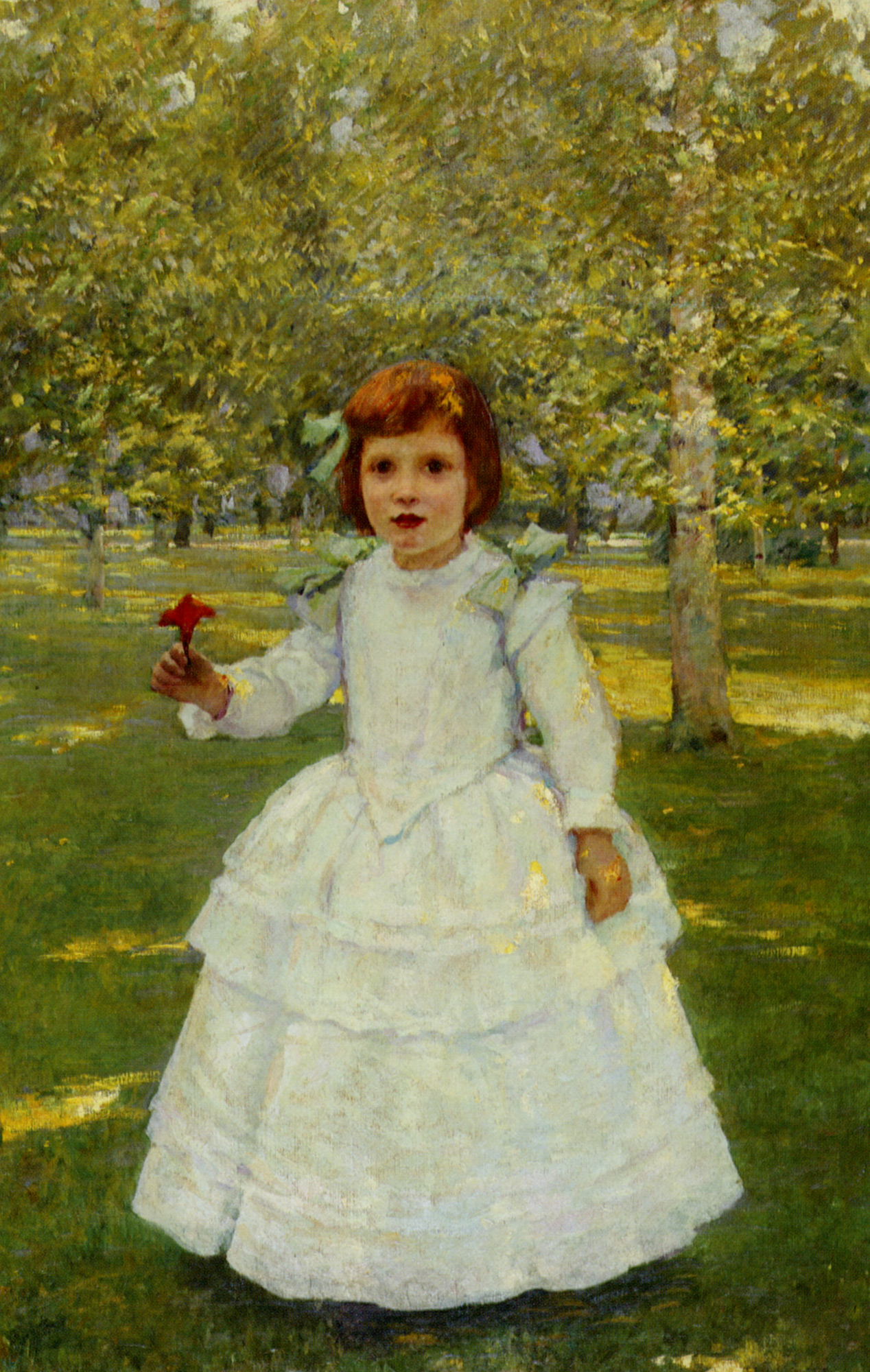 The Red Flower :: Robert Reid - Portraits of young girls in art and painting ôîòî