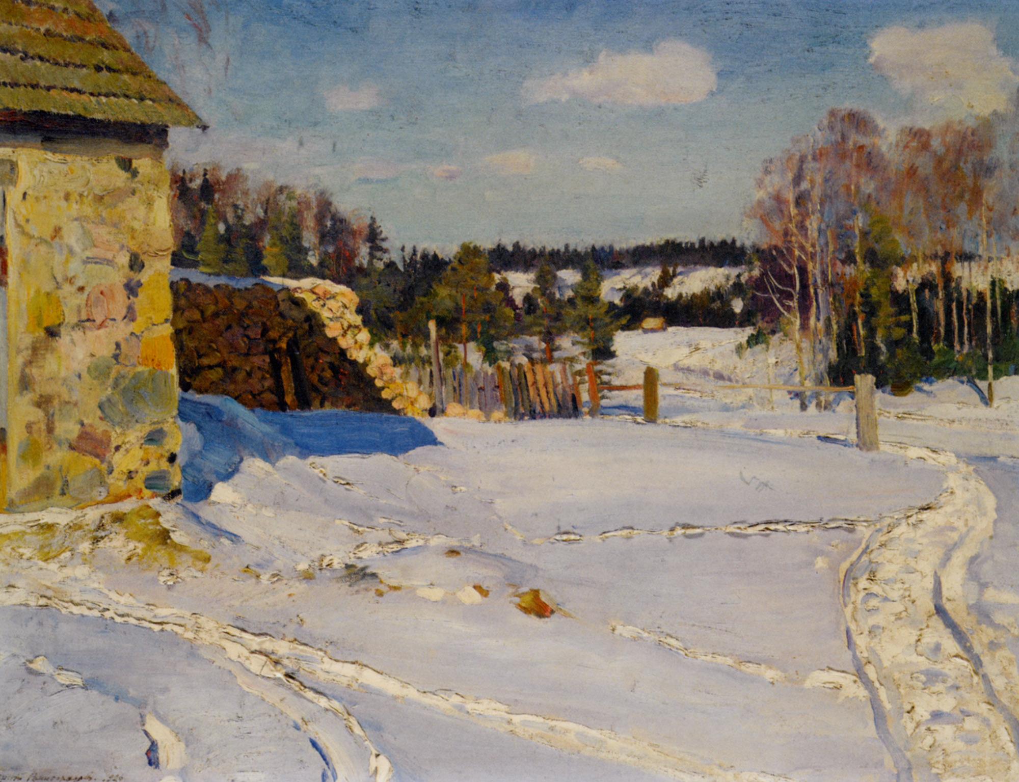 Winter Landscape :: Sergei Arsenievich Vinogradov - winter landscapes ôîòî