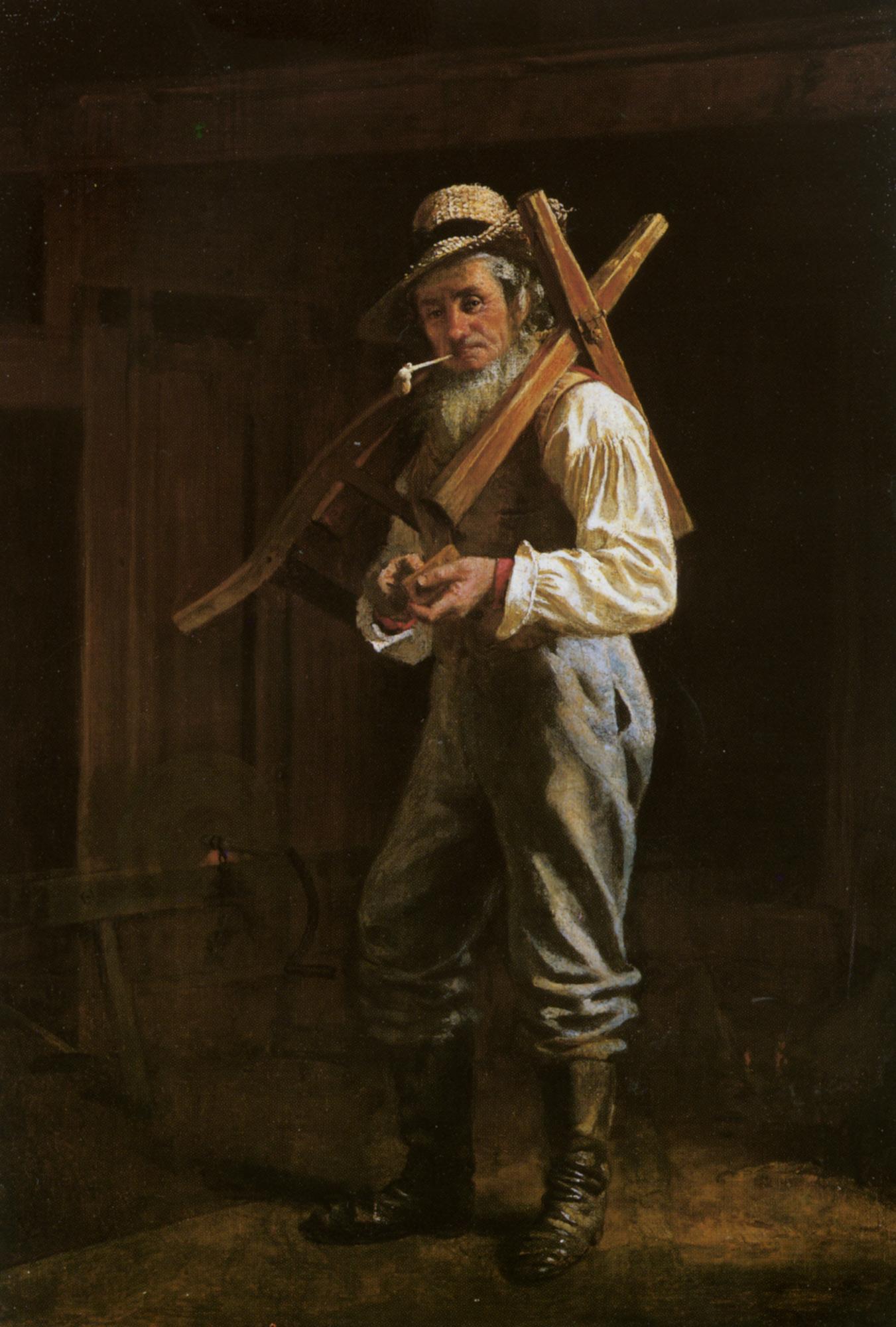 Man with Pipe :: Thomas Waterman Wood - men's portraits 20th century (1900-1930) first third ôîòî