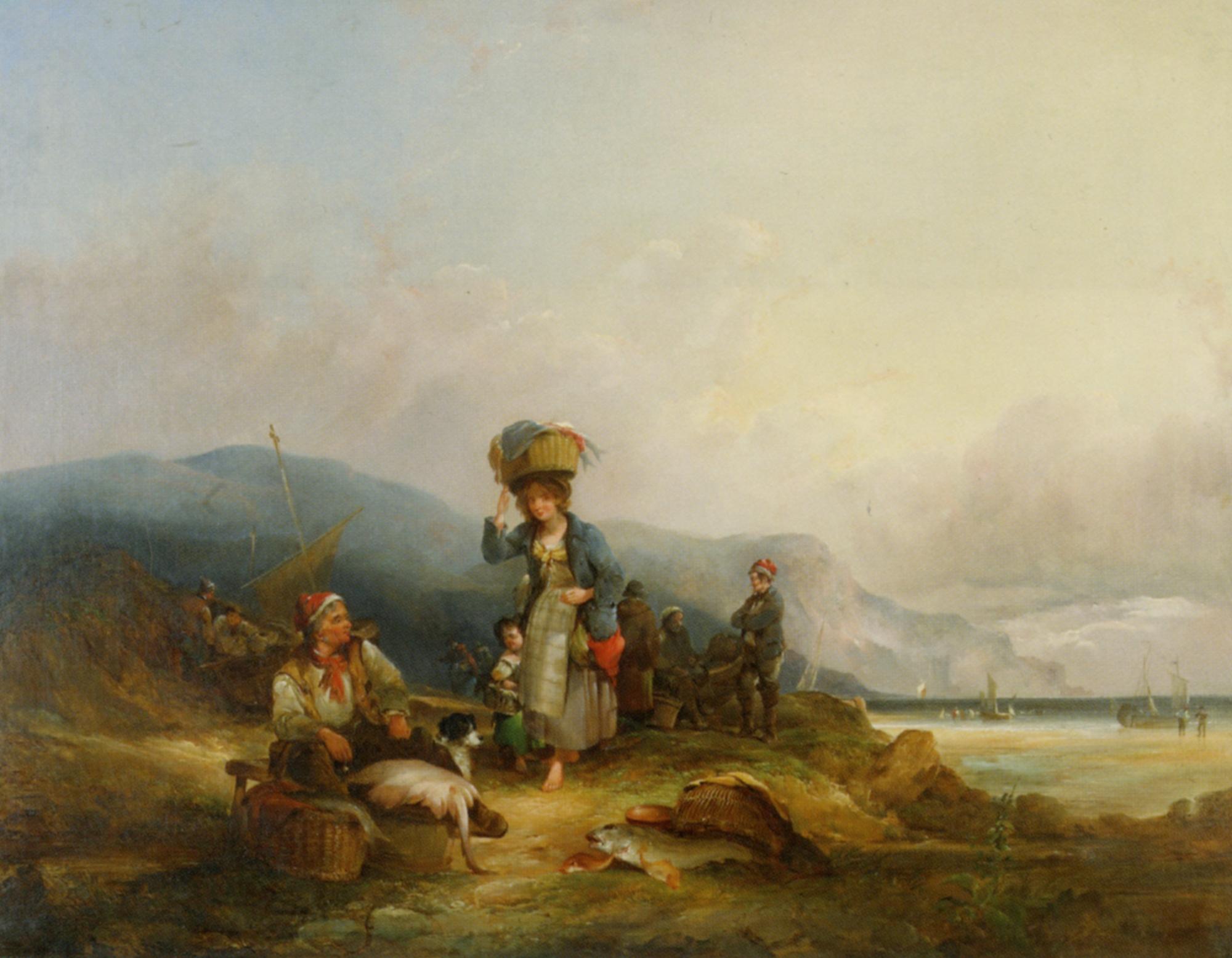 Fisherfolk and their Catch :: William Shayer - Coastal landscapes ôîòî