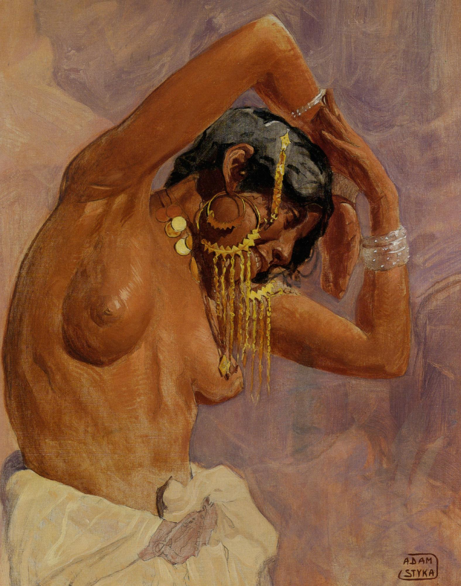 Harem Dancer :: Adam Styka - Arab women (Harem Life scenes) in art  and painting ôîòî