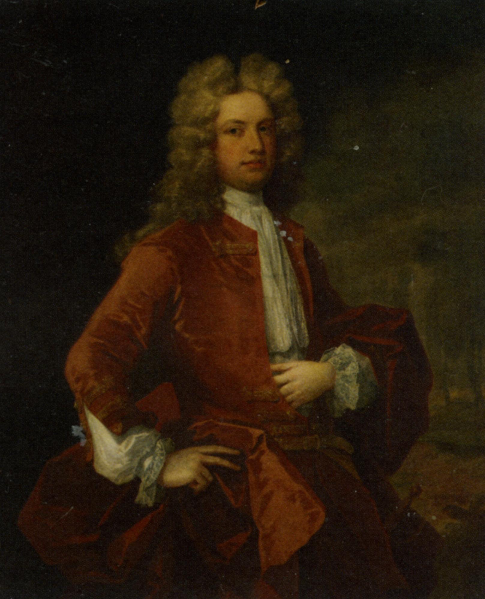 Portrait of Thomas Western Esq in a Red Coat :: Charles Jervas - men's portraits 18th century ôîòî