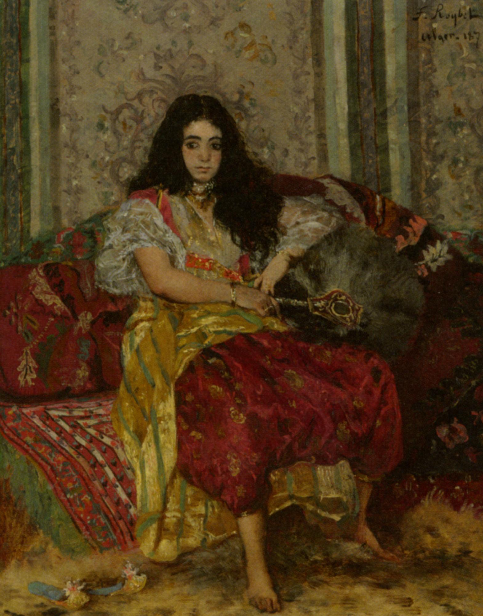 The Sultana :: Ferdinand Roybet - Arab women (Harem Life scenes) in art  and painting ôîòî