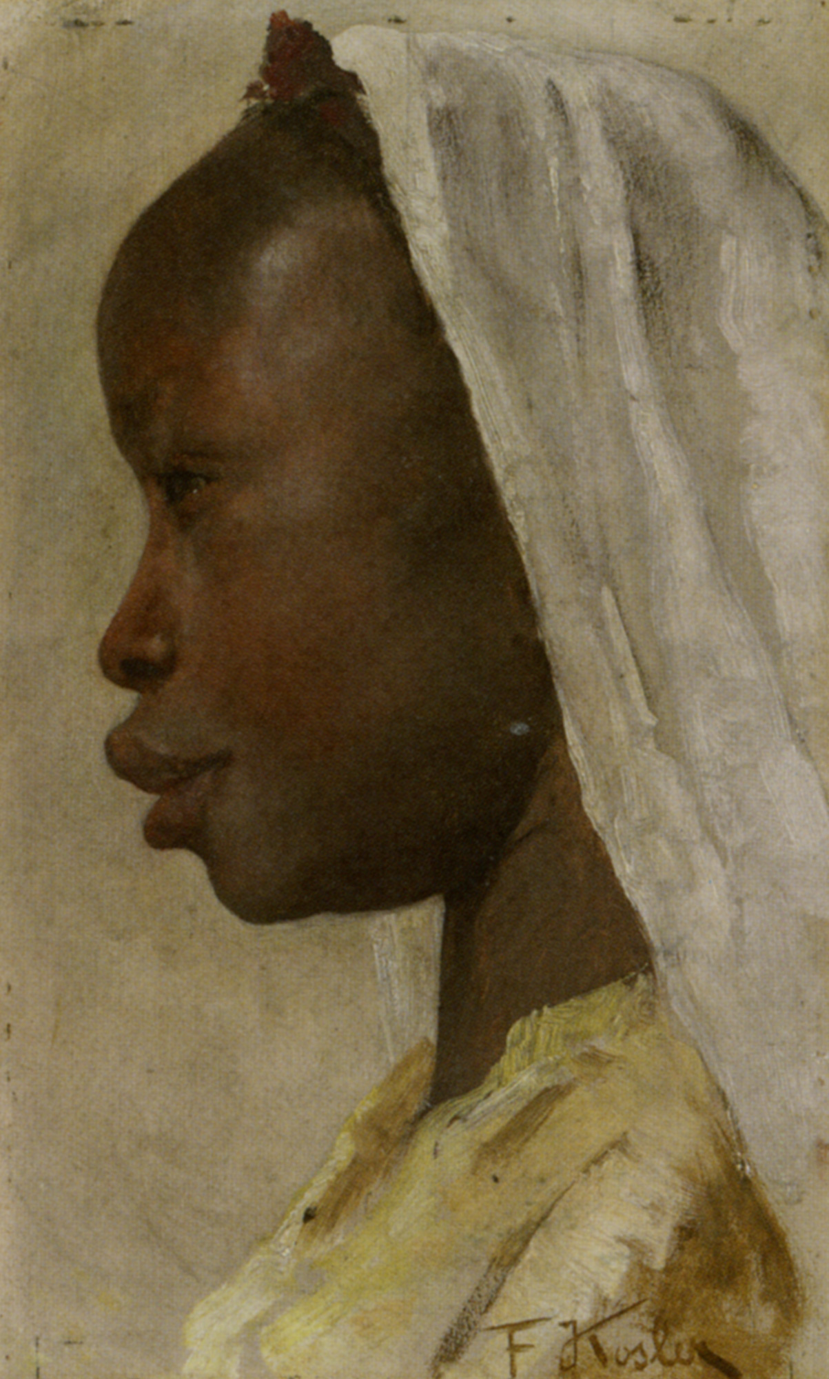 Profile of a Nubian Girl :: Franz Xavier Kosler - 7 female portraits ( the end of 19 centuries ) in art and painting ôîòî