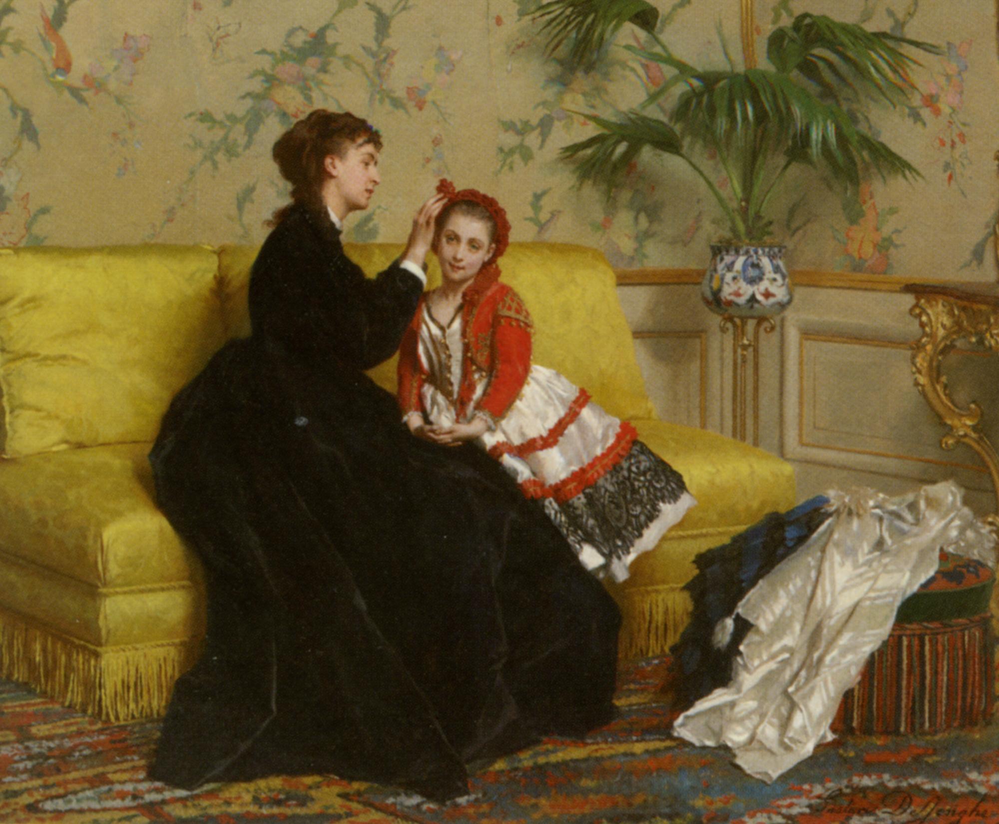 Preparing for the Ball :: Gustave Leonhard de Jonghe - Rich interiors ôîòî
