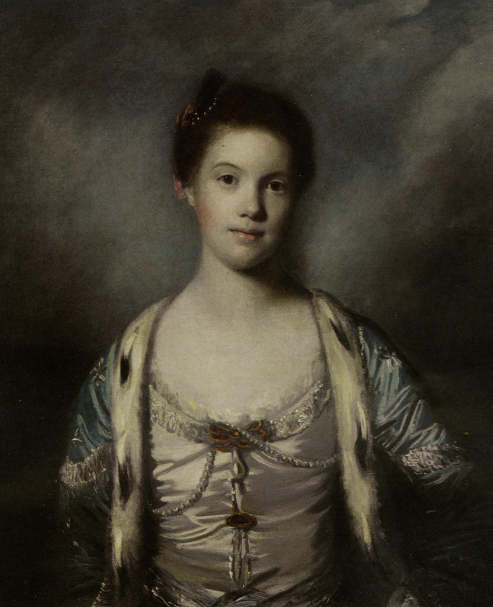 Portrait of Bridget Moris in a White Silk Dress :: Joshua Reynolds - 4 women's portraits 18th century hall ôîòî
