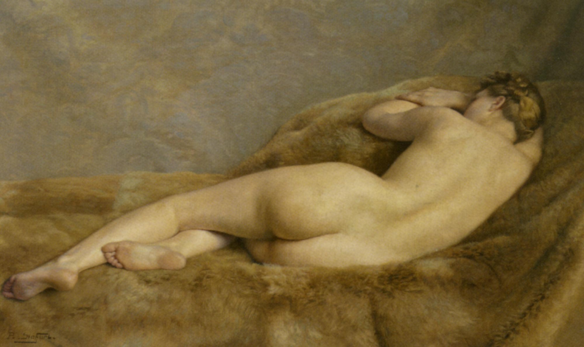 Reclining Nude [ Female back ] :: Paul Sieffert  - Nu in art and painting ôîòî