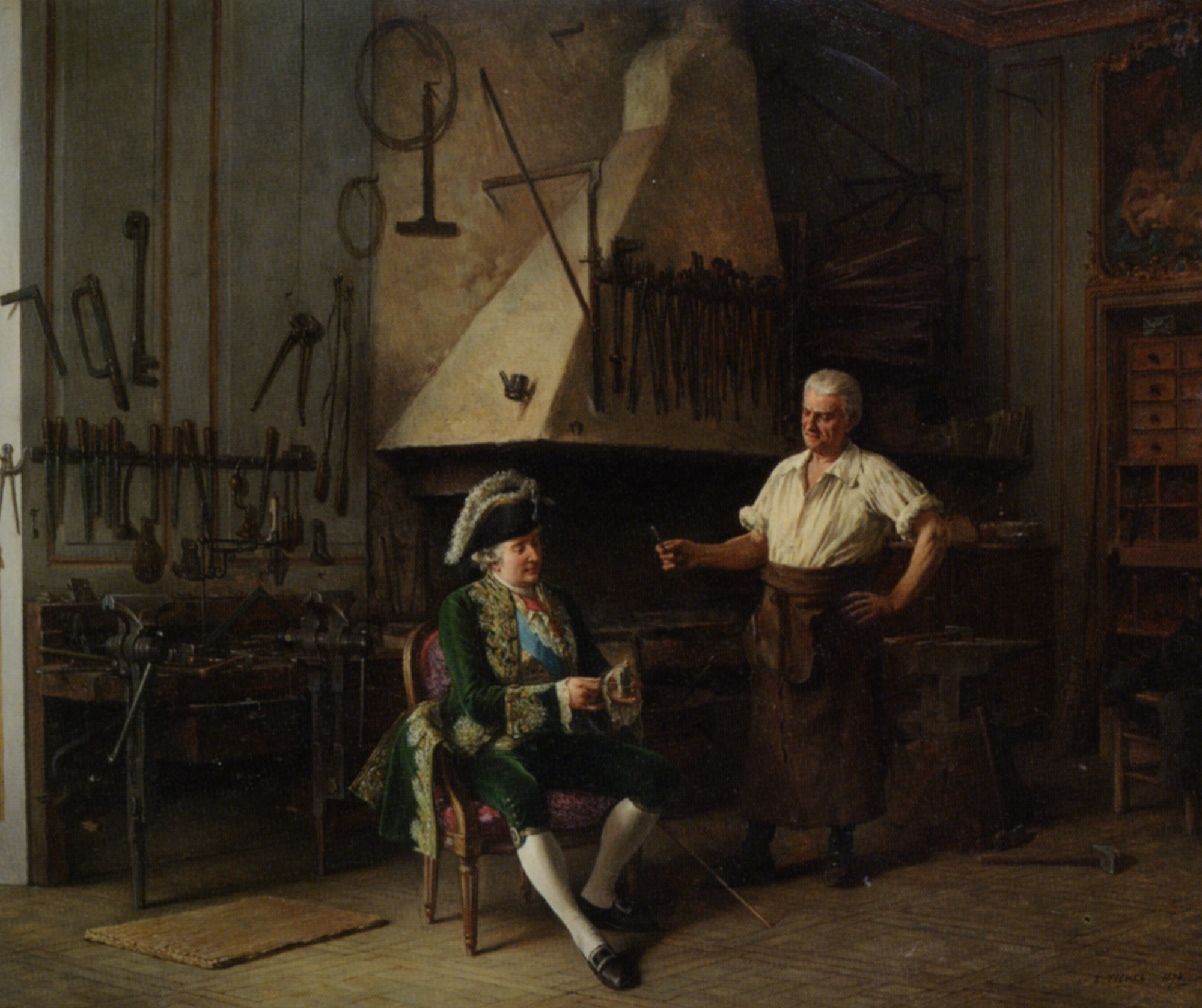 The Forge of King Louis XVI :: Benjamin Eugene Fichel - Interiors in art and painting ôîòî