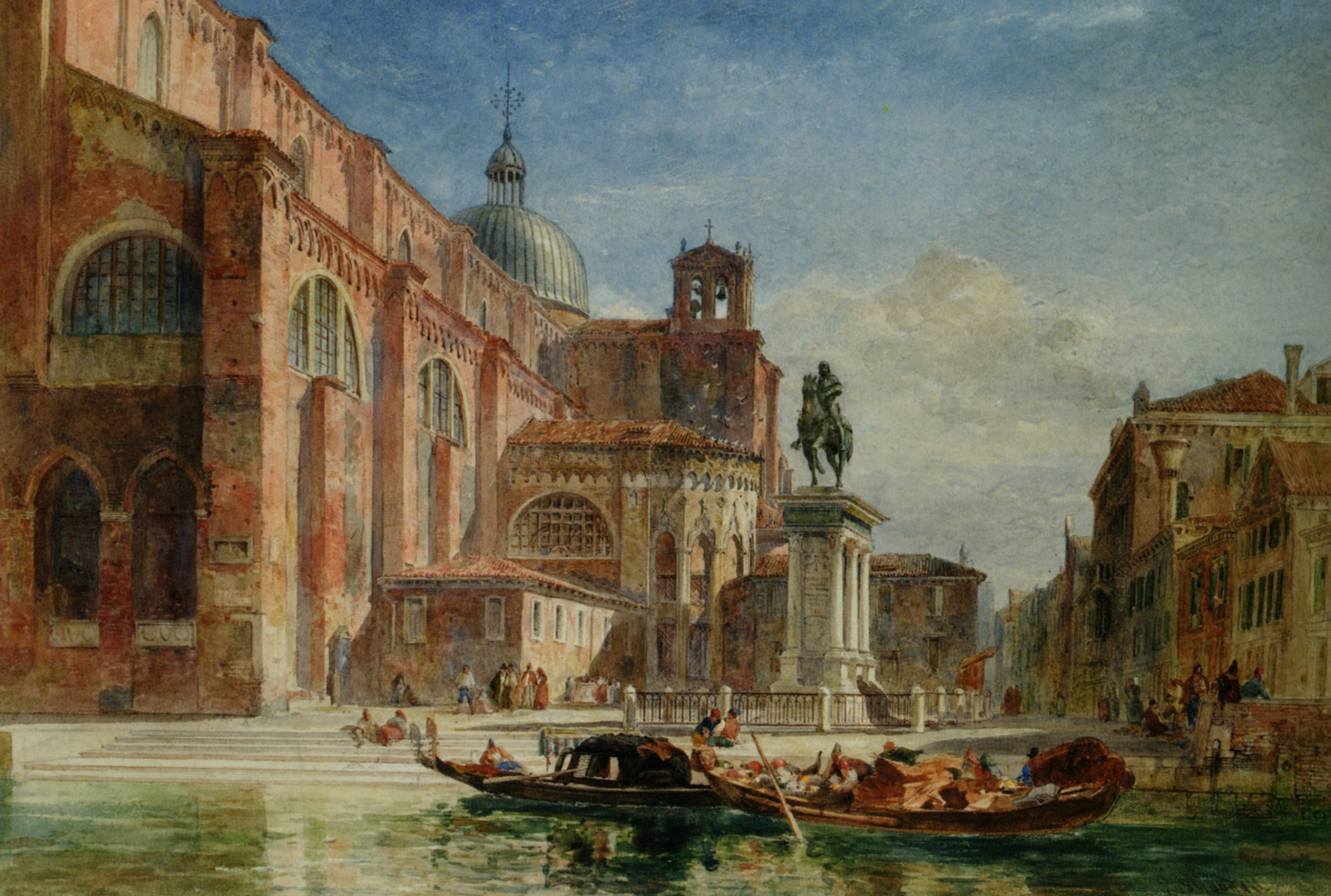 The Church of St Giovanni e Paolo with the Statue of Colleoni :: Edward Angelo Goodall  - Venice ôîòî