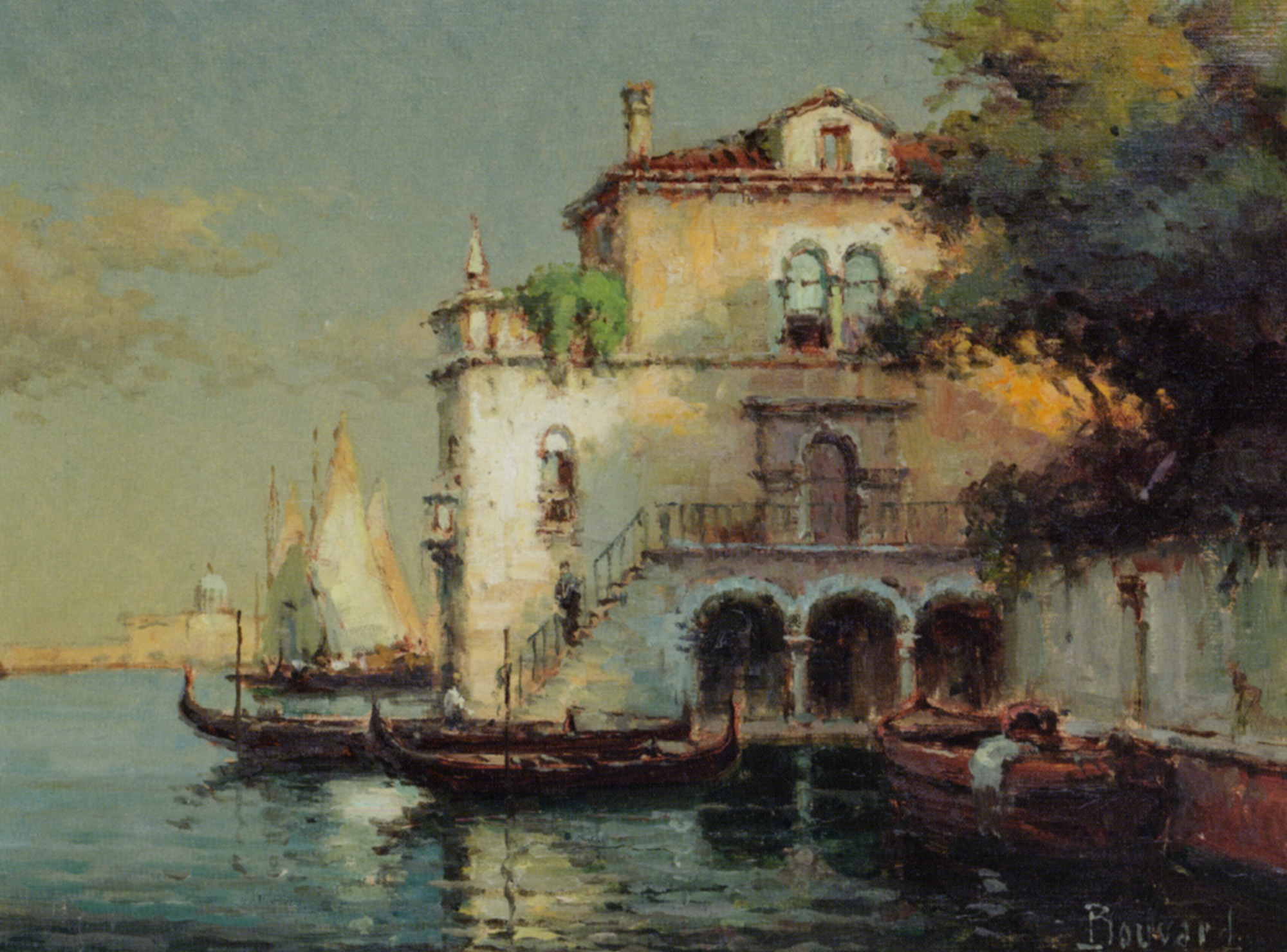 Venetian Backwater with Gondolas :: Noel Bouvard - Venice ôîòî