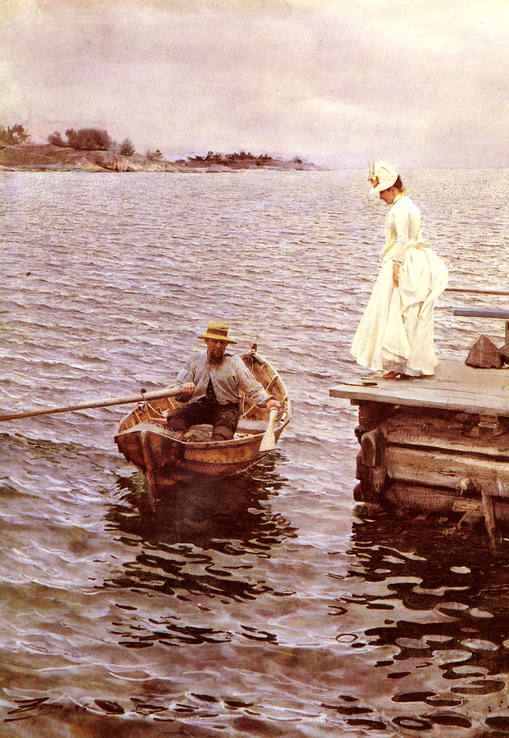 Summer Fun :: Anders Zorn - Romantic scenes in art and painting ôîòî