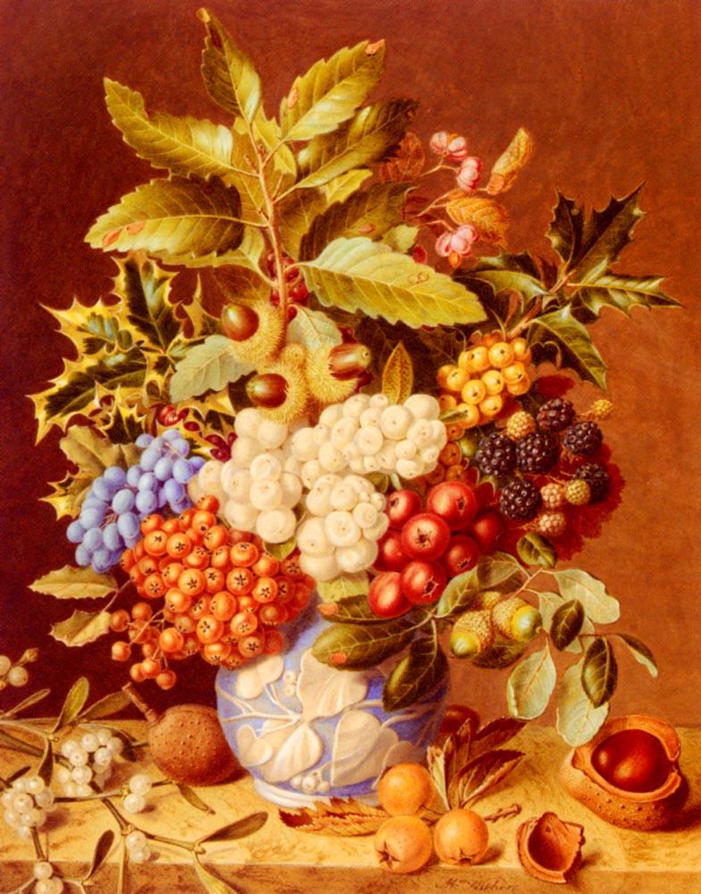 Winter Still Life :: Augusta Innes Withers - Still-lives with fruit ôîòî