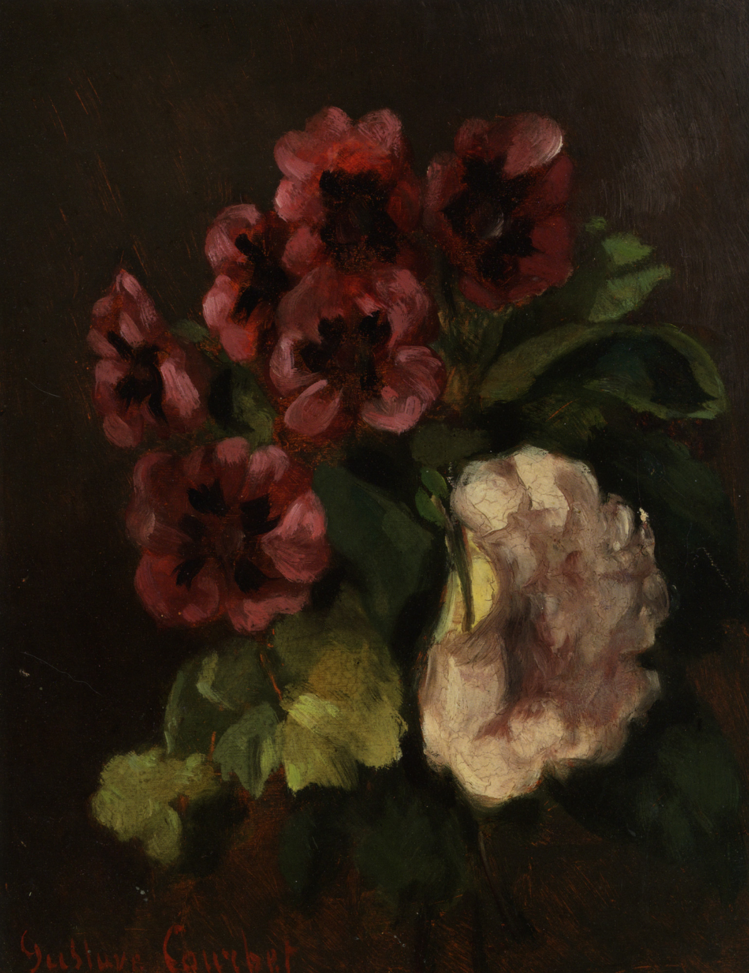 Bunch of flowers :: Gustave Courbet - flowers in painting ôîòî