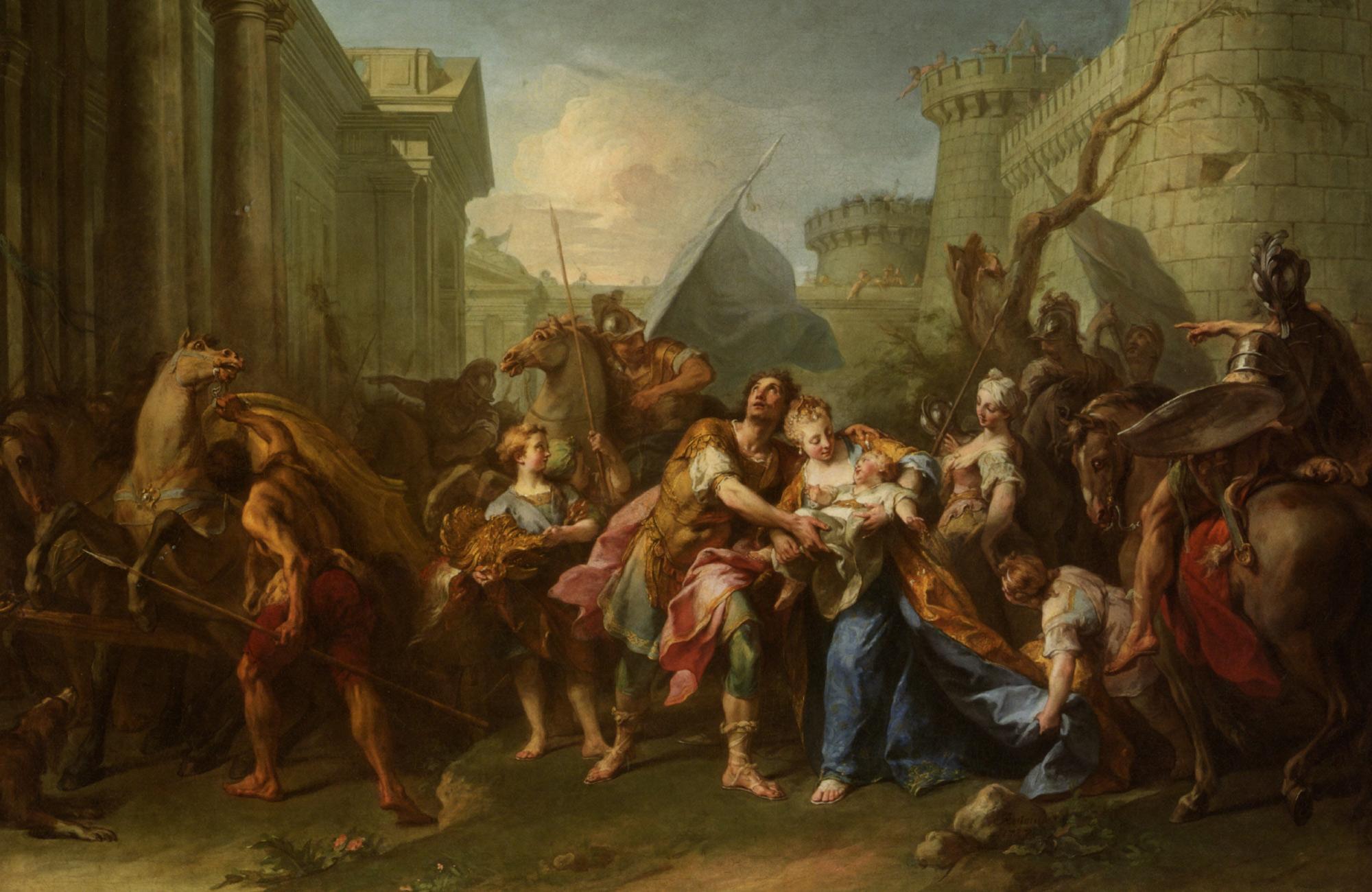 Taking Leave of Andromanche :: Jean, II Restout - mythology and poetry ôîòî