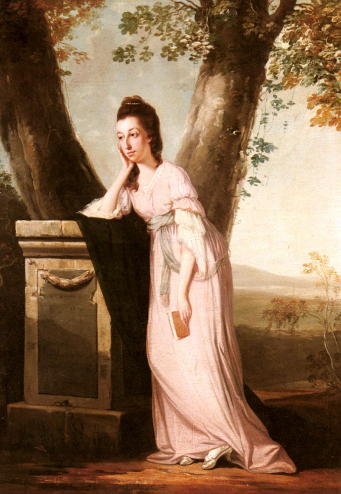 Portrait of a Lady, said to be Thesesa Parker (1744-1775), Wife of John Parker, Later Lord Borington :: Benjamin Wilson  - 4 women's portraits 18th century hall ôîòî