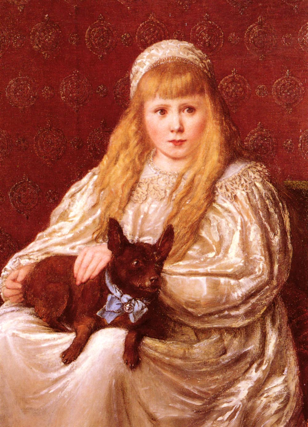 The Blue Ribbon :: Charlotte Major Wyllie - Portraits of young girls in art and painting ôîòî