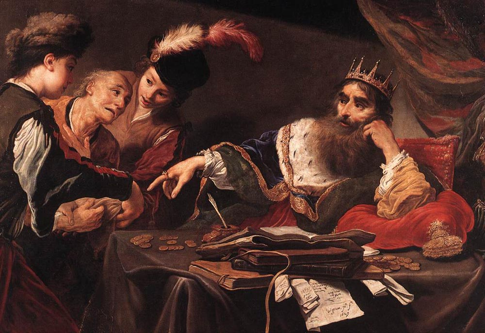 Croesus Receiving Tribute from a Lydian Peasant :: Claude Vignon - History painting ôîòî