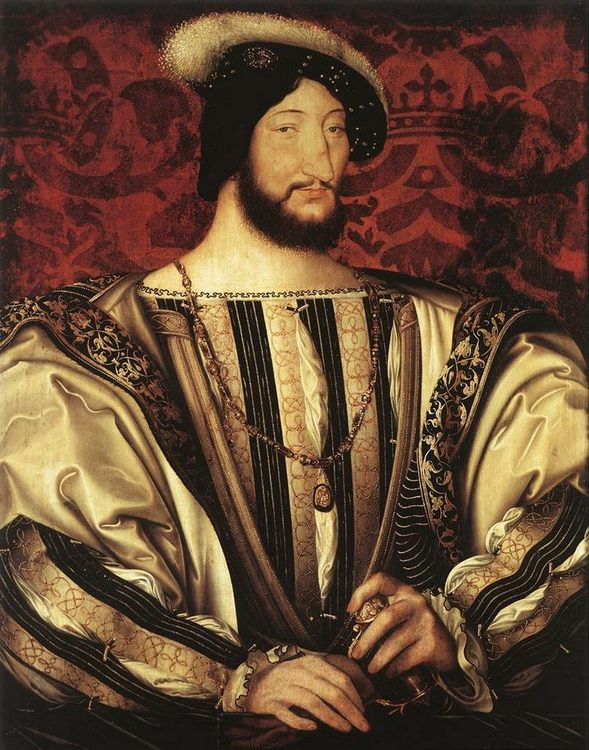 Portrait of Francois I, King of France :: Jean Clouet - men's portraits фото