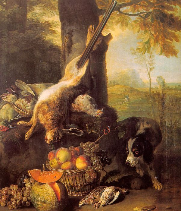 Still Life with Dead Hare and Fruit :: Alexandre-Francois Desportes - Still-lives with fruit ôîòî