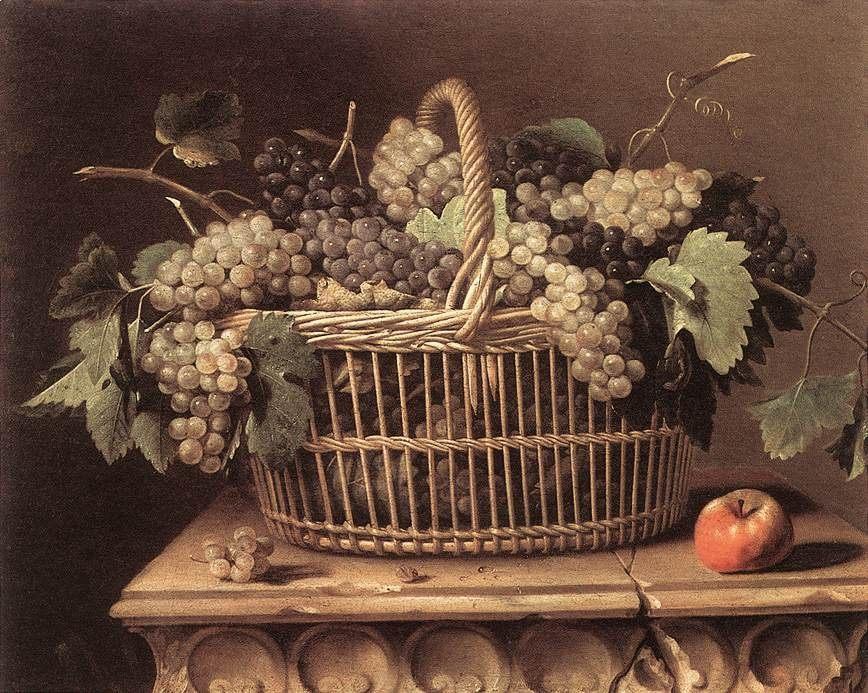 Basket of Grapes :: Pierre Dupuys - Still-lives with fruit ôîòî