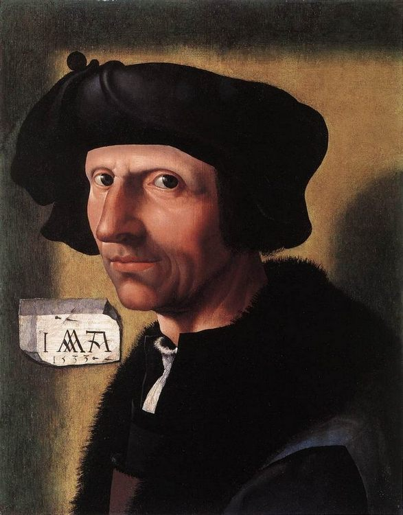 Jacob Cornelisz Van Oostsanen (1472-1533) Self-Portrait - men's portraits ôîòî