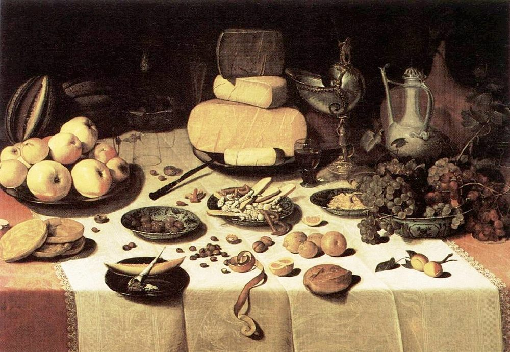 Laid Table :: Floris Claesz van Dijck - Still Lifes ôîòî