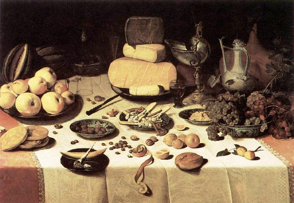 Laid Table :: Floris Claesz van Dijck - Still life фото