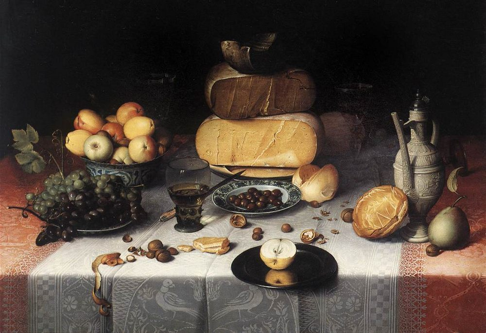 Still-Life with Cheeses :: Floris Claesz van Dijck - Still Lifes ôîòî
