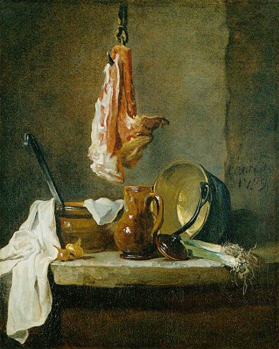 Still Life with a Rib of Beef :: Jean-Baptiste-Simeon Chardin - Still Lifes фото
