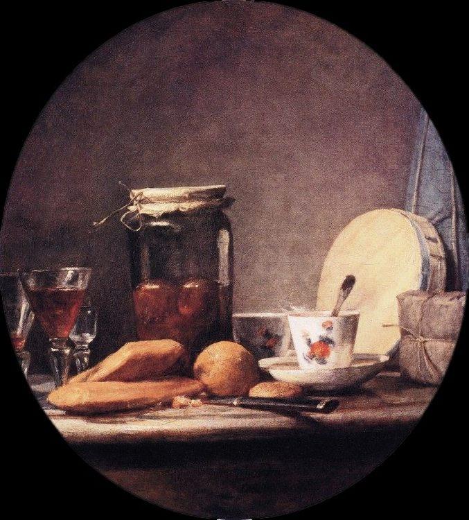 Still Life with Jar of Apricots :: Jean-Baptiste-Simeon Chardin - Still Lifes ôîòî