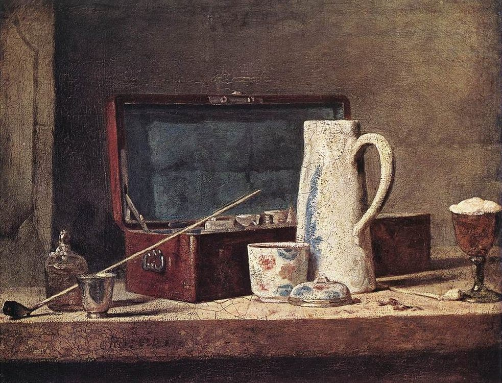 Still-Life with Pipe and Jug :: Jean-Baptiste-Simeon Chardin - Still Lifes ôîòî