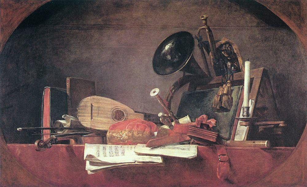 The Attributes of Music :: Jean-Baptiste-Simeon Chardin -  фото