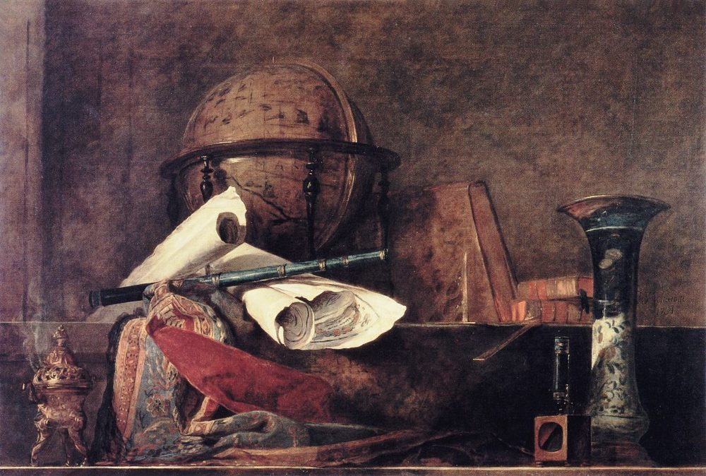 The Attributes of Science :: Jean-Baptiste-Simeon Chardin - Still Lifes ôîòî