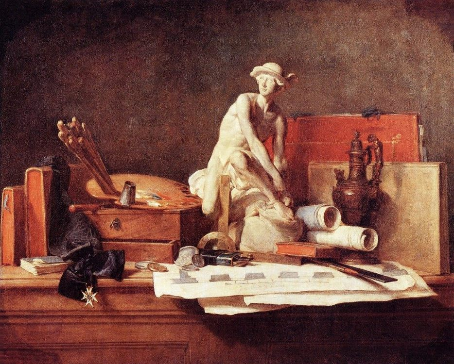 The Attributes of the Arts :: Jean-Baptiste-Simeon Chardin -  фото